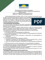 Edital 1 2012 Promotor de Justi a Mpe to Abertura 1