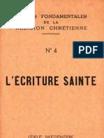 Ecriture Sainte