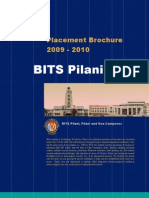 Placement Brochure BITS Pilani