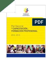 Setec Plan Nacional de Capacitacion 2012