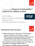 C Lindsay and M Dutton Pathways to employability