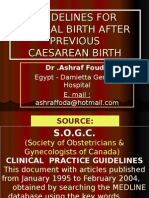Guidelines for Vaginal Birth After Previous Caesarean Birth