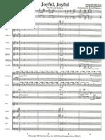Joyful, Joyful - Score