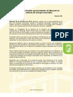 Señala Alcalde oportunidades de Mexicali en materia de energía renovable