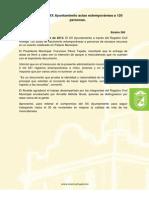 Beneficia XX Ayuntamiento actas extemporáneas a 120 personas