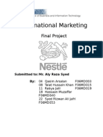 Nestle Final Project Report