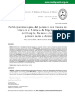 Perfil epidemiológico del paciente con trauma de tórax 2009