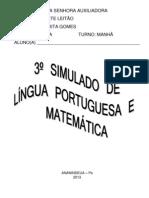3º SIMULADO PORTUGUES E MATEMÁTICA