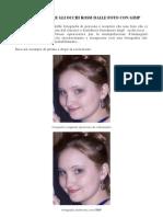 Come eliminare il fenomeno degli occhi rossi da una foto usando Gimp