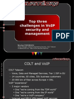 Top three challenges in VoIP security and management