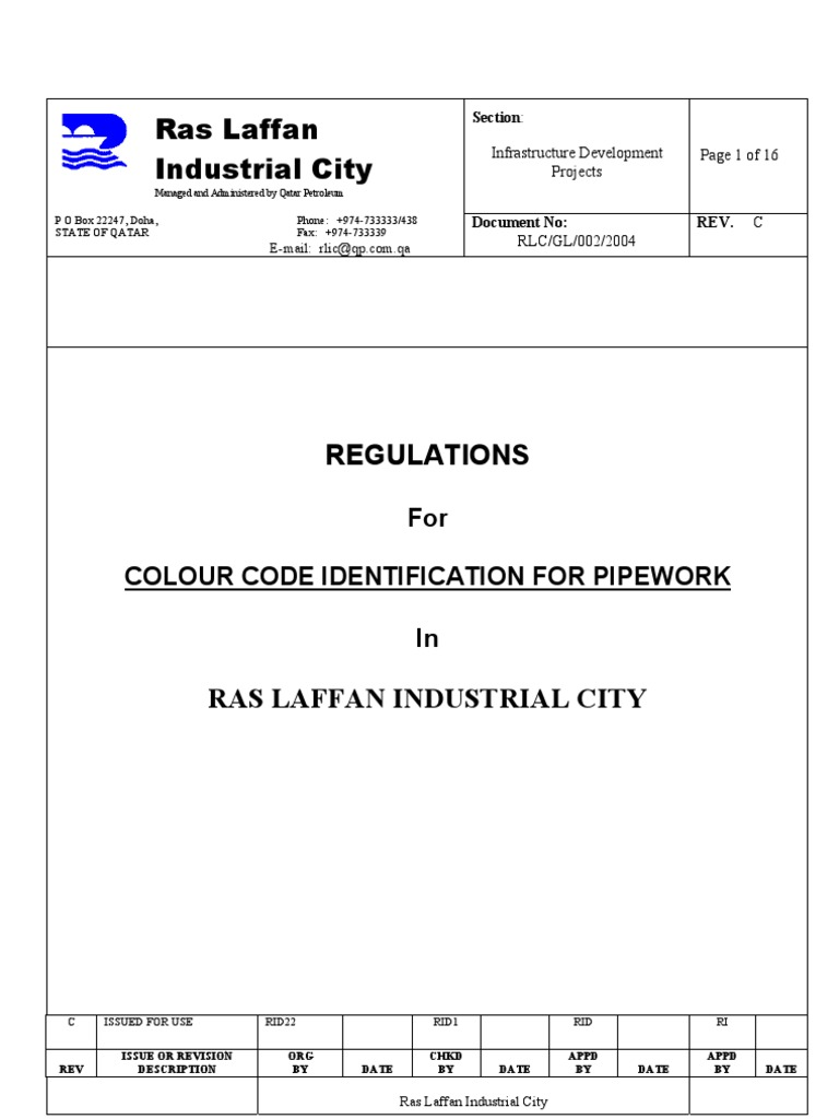 Regulations for Color Code for piping systems | Pipe (Fluid Conveyance) |  Gas To Liquids