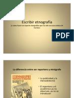 Escribir etnografía - Sergio Tamayo