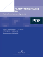 Estudios de Política y Administración de la Educación - 2013