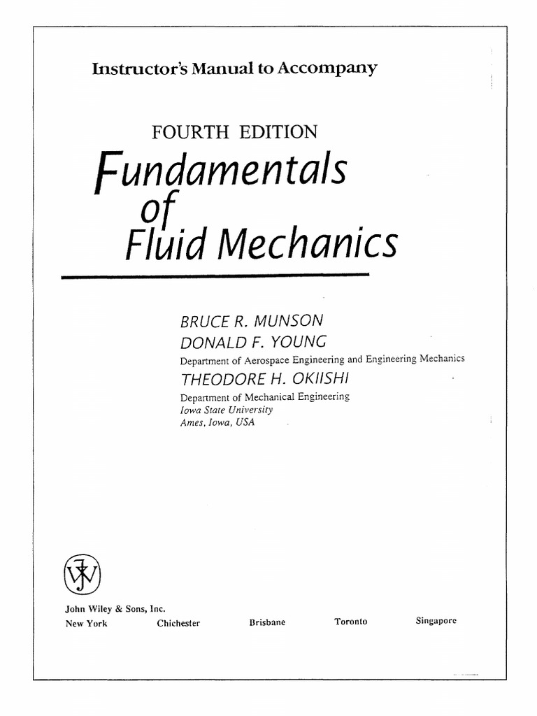 fluid mechanics with engineering applications solution manual pdf