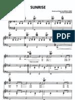 Norah Jones Sunrise piano sheet