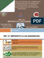 Impuesto a Las Ganancias- Nic 12
