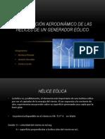 Construcción aerodinámico de las hélices de un generador