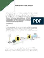Trasmisión de información por las redes eléctricas
