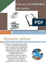 Materia Prima en Contabilidad de Costos (1)