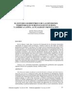 Jacobo Garcia. El estudio geo histórico de las divisiones territoriales subástateles en Europa y AL