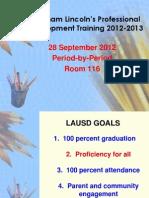 plc facilitator training 28 september 2012