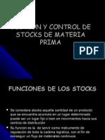 Gestion y Control de Stocks de Materia Prima