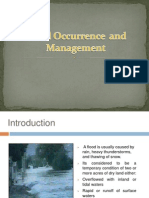 Flood Occurrence  and Management