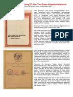 Amerika Memiliki Hutang 57 Ribu Ton Emas Kepada Indonesia