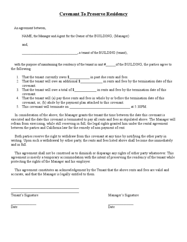 agreement to pay