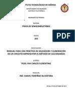Manual Para La Elaboracion de Una Practica de Soldadura y CI Con Calcomanias