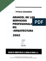 CAM SAM Arancel II, Servicios Profesionales DRO