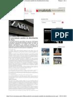 TECNOMERCADO ONLINE El Conveniente Modelo de Distribuciooon de Zara