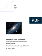Speculating About Information