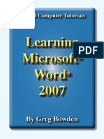 Learning Microsoft Word 2007 - Introduction