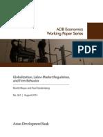 Globalization, Labor Market Regulation, and Firm Behavior