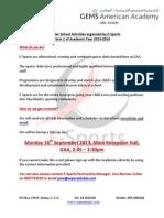 gaa e-sports activities  - parents information letter