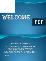 Single- ELEMENT  ULTRA SOUND  TRANSDUCER FOR  COMBINED  VESSEL LOCALISATION AND ABLATION