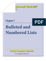 Learning Microsoft Word 2007 - Bullets