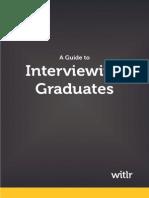 Interviewing Graduates