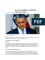 Obama admin. Knew Millions could not keep their Health insurance.pdf