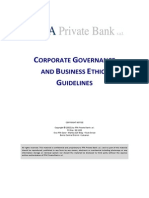Corporate Governance & Business Ethics Guidelines