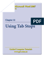 Learning Microsoft Word 2007 - Tabs