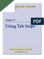 Learning Microsoft Word 2007 - Tabs