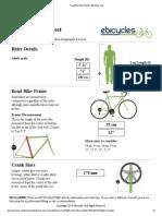 Road Bike Size Sheet _ eBicycles
