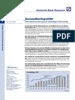 Gesundheitspolitik Ohne Marktorientierung