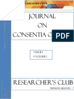 Research Journal on Consentia on Law