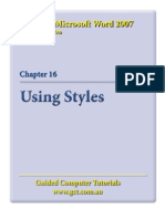 Learning Microsoft Word 2007 - Styles