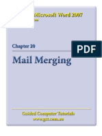Learning Microsoft Word 2007 - Mail Merge