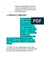Durood Shareef Are Equivalent and Give Full Benefits