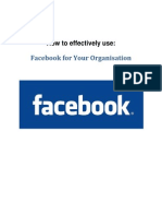 How To Effectively Use FaceBook For Your Organisation.pdf